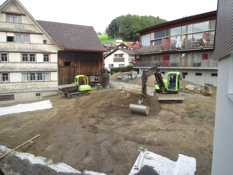 Baustelle Generationengarten Eggersriet